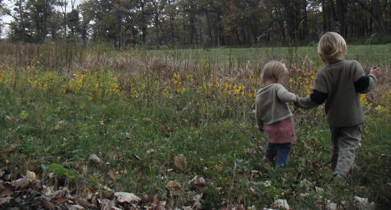 Children in the wetland